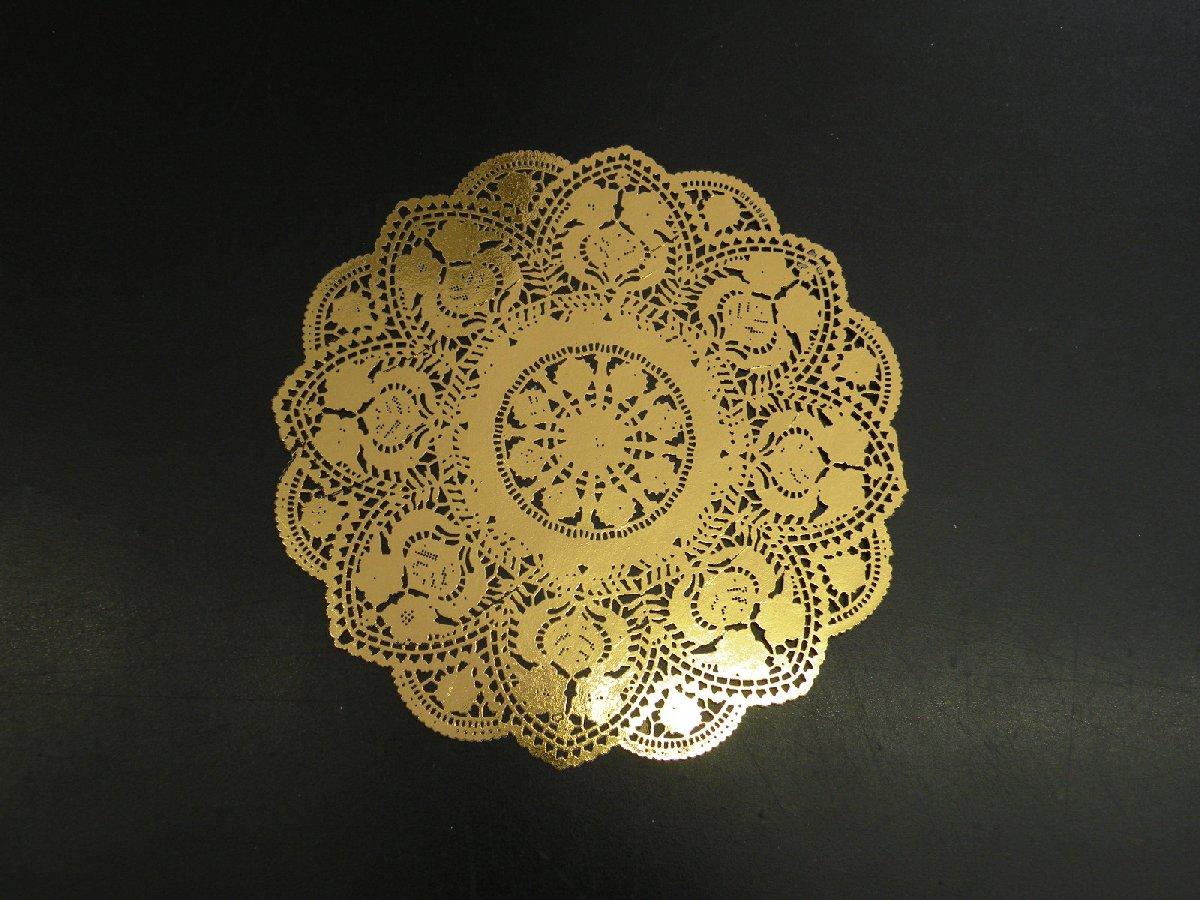 画像:金箔とレーザー