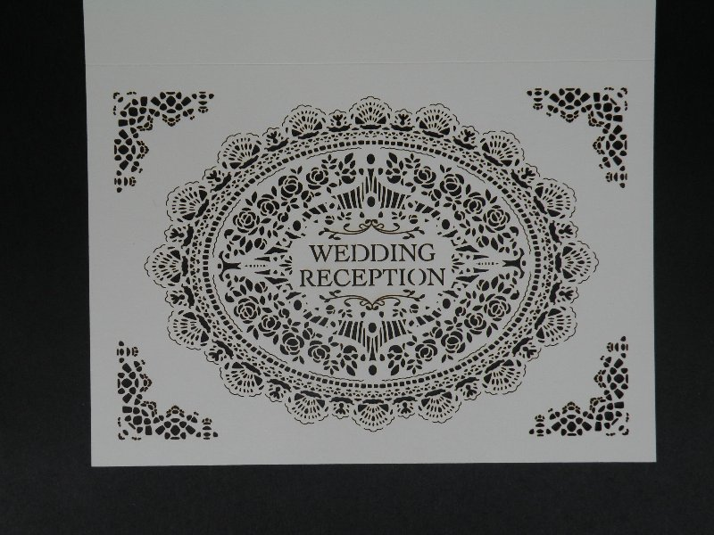 画像:結婚式レセプションカード