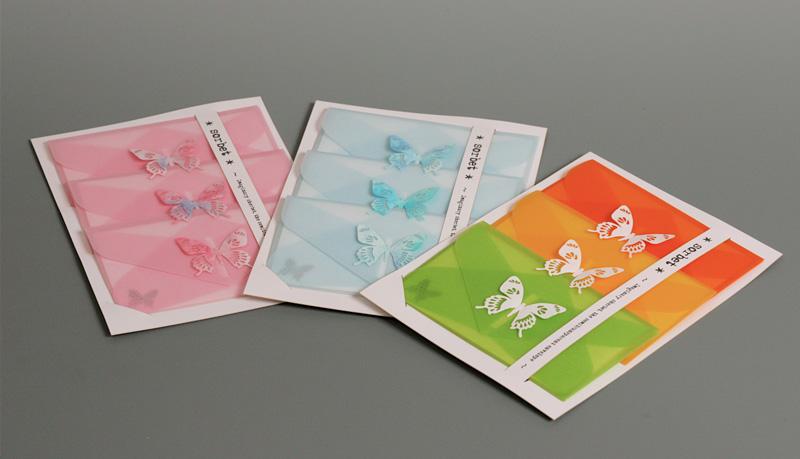 画像:シャーベット封筒三種販売開始