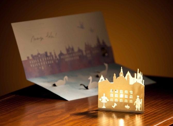 画像:紙製キャンドルホルダー
