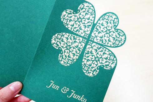 画像:二つ折りカード