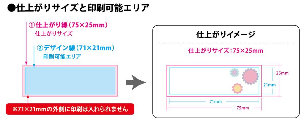 画像:【付箋本舗】定形付箋 入稿データの作り方について