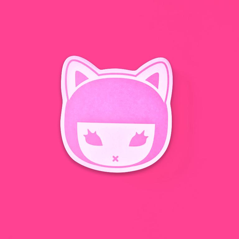 画像:ピンクの型抜き付箋