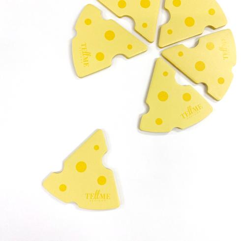 画像:チーズの型抜き付箋