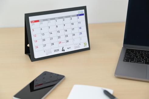 画像:カレンダー革命!「脱プラ」時代に向けたリングレスecoカレンダー