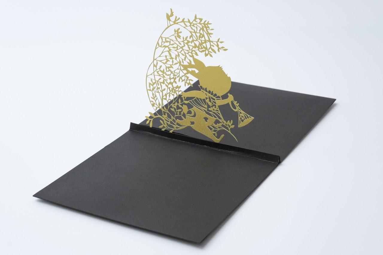 画像:アリスのウサギの立体カード